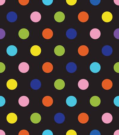 Black round seamless pattern. Retro fabric ornament.Vector format. Vector