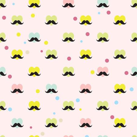 Beard Background. Vector seamless pattern. Vintage theme Vector