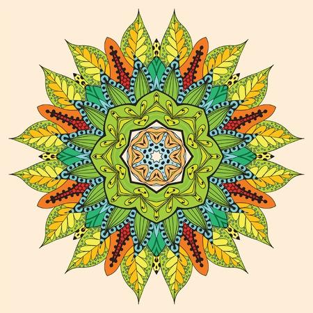 Flower arabic mandala  Vector background  Abstract illustration Vector