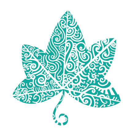 Tribal tattoo. Ivy leaf. Tribal motif is good for native theme and various tatoos. Vector