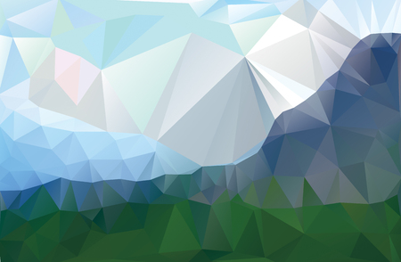 landscape in a minimalist style. Triangular pattern. Vector illustration for your website or design work.