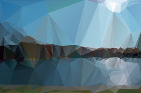 minimalist style: landscape in a minimalist style. Triangular pattern. Vector illustration for your website or design work.