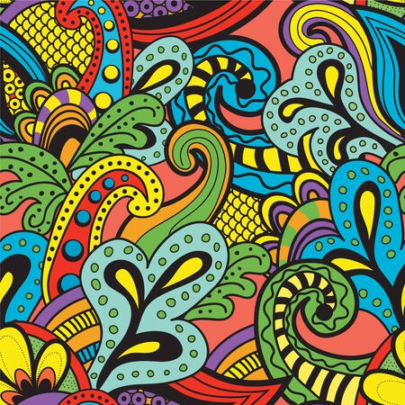vintage colors: Seamless Vector floral pattern. Vintage colors.