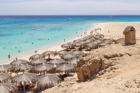 Mahmya Beach op het eiland in de Rode Zee, Egypte