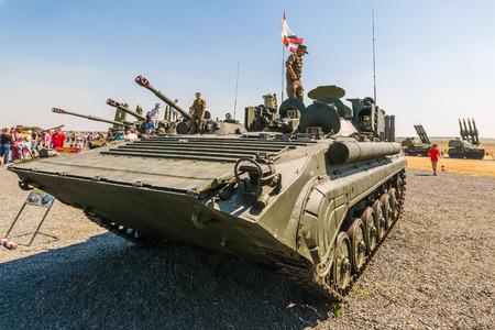 KADAMOVSKIY TRAINING GROUND, ROSTOV REGION, RUSSIA, 26 AUGUST 2017: International military technical forum ARMY-2017. Mobile reconnaissance post PRP-4A Editorial