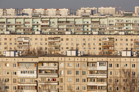 Typical panel apartment buildings as background or backdrop
