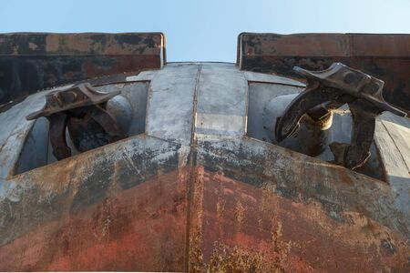 Bottom view of the nose part of barge