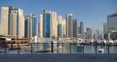 DUBAI, UAE, JANUARY 13, 2019: Panorama of Dubai Marina