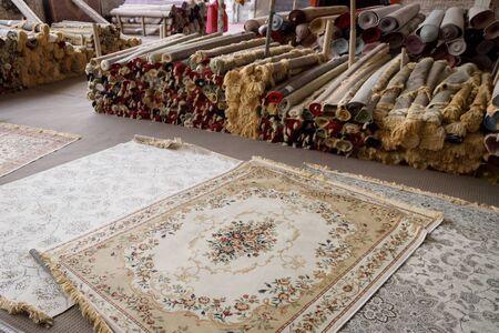 FUJAIRAH, UAE, JANUARY 11, 2019: Carpet shop in Masafi