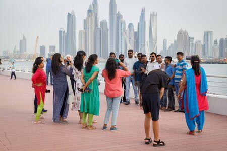 DUBAI, UAE, JANUARY 13, 2019: Tourists from India