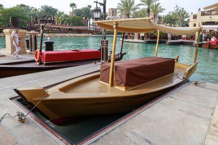 DUBAI, UAE, JANUARY 13, 2019: Traditional wooden boat