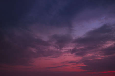 Dark red-violet sky at sunset as a backdrop. Archivio Fotografico