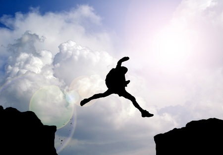 steep cliff: rock climber