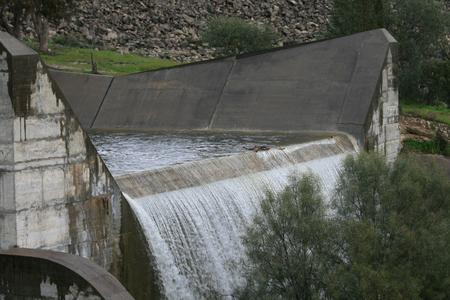 Overflow dam Фото со стока