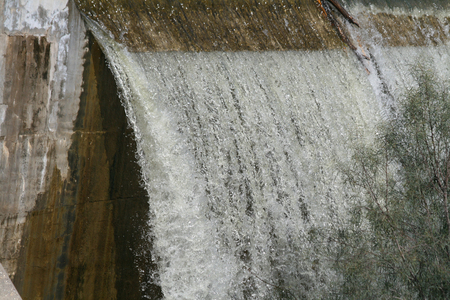 Close-up of falling water