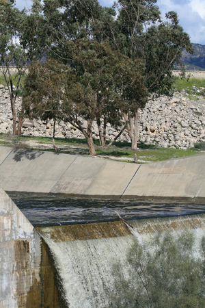 Overflow dam during rainy season Фото со стока