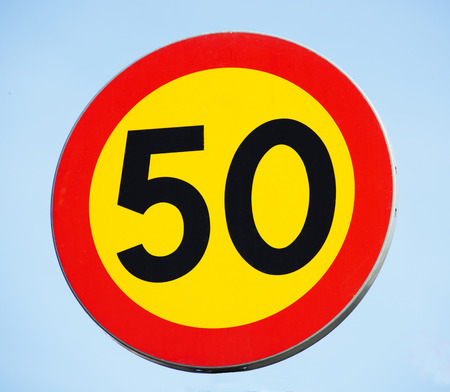 50 sign Stock Photo
