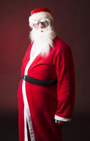 Full Body Shot of Santa Claus Stock Photo