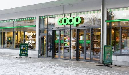 Stockholm, Sweden - January 2, 2016: COOP Store in Alvsjo Editorial