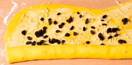 Saffron bun dough