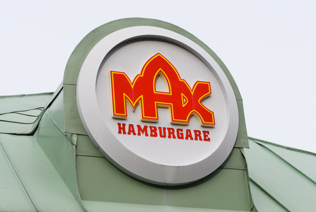 Sodertalje, Sweden - Mars 5: Max hamburger sign, Signs of one of the biggest Swedish hamburger chains from the 1950 s.