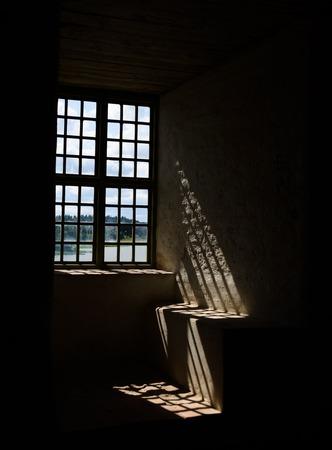 Light through a window in Stegeborg castle ruins, Sweden