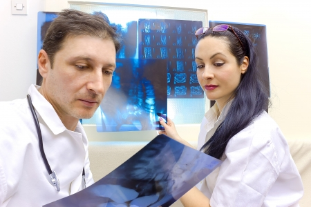 Doctors are viewing X-rays, photography Stock Photo - 17926903