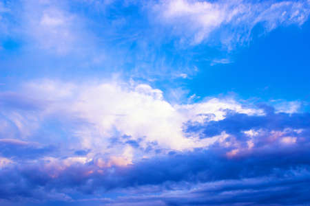 atmospheric pressure: Large clouds over the city , photography Stock Photo