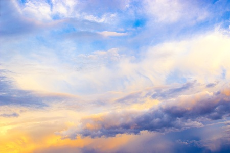 atmospheric pressure: Large clouds over the city in the evening , photography