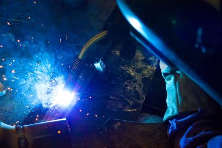 Welder weld metal,photography photo