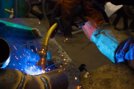 Welder weld metal ,photography photo