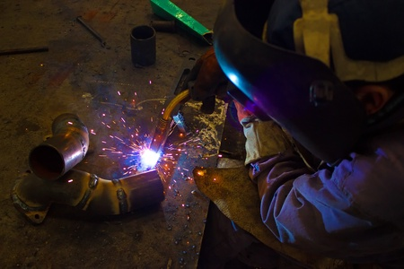 Welder weld metal ,photography photo