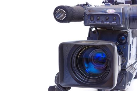 media equipment: TV camera , Television Beta camcorder lens  Stock Photo