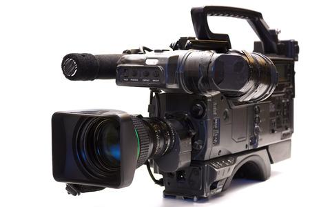 Cámaras de televisión profesional, cámara de televisión profesional aislado en blanco
