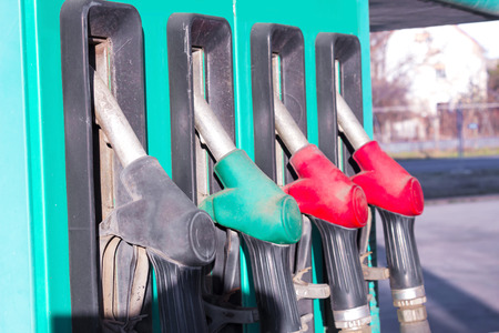 Gas Pump Nozzles ; Automate for refills fuel along with nozzles,photography