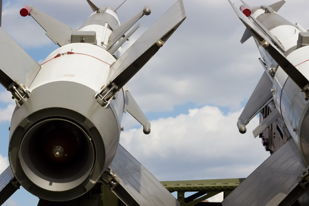 Launching pad for military rockets ; Missile systems on the mobile carrier