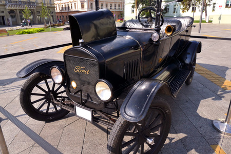 lizzie: Zrenjanin ;Serbia ; 07.09.2016.Ford Model T from 1921 on exhibition of old cars ; Ford Model T from 1921 Editorial