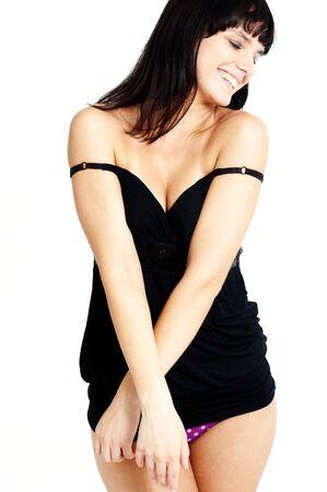 sexy brunette girl photo
