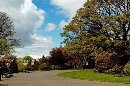 pad in een park in Bristol, Verenigd Koninkrijk