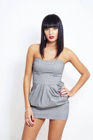 sexy elegant brunette woman - fashion shot Stock Photo - 5981343