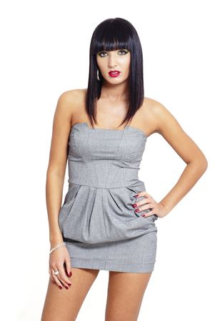 sexy elegant brunette woman Stock Photo - 5981339