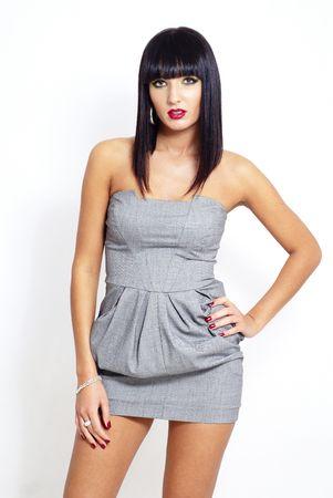 sexy elegant brunette woman Stock Photo - 5981342