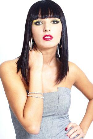 sexy elegant brunette woman Stock Photo - 5981347