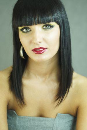 portret van de glamour van een mooie vrouw