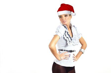 santa claus elf girl photo