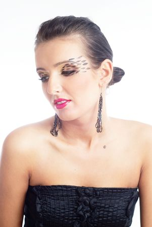 Glamour shot van een mooie vrouw Stockfoto