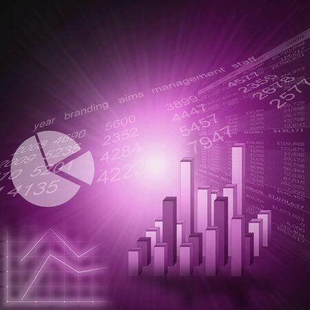 Business grafiek of marketing stats beeld - purple