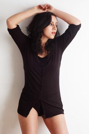 attractive mixed raced european asian woman photo