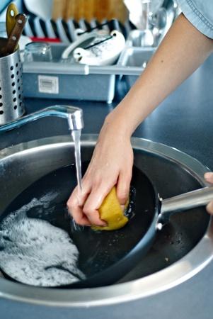 washing up: washing dishes