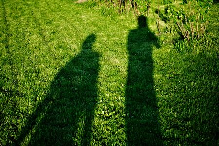 shadow of two men Stock Photo